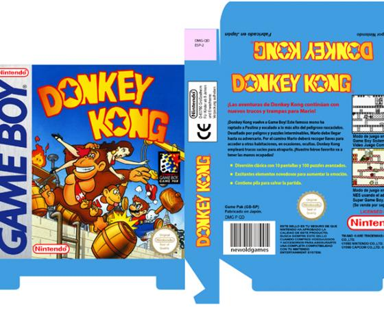DONKEY KONG CLASSIC NES 8 BIT CAJA BOX PORTRAIT RETRO REPRO PAL ESPAÑA NINTENDO