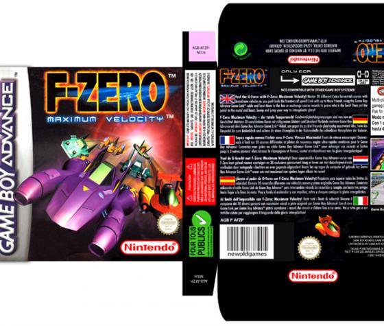 F ZERO MAXIMUM VELOCITY CAJA BOX PORTRAIT RETRO REPRO NINTENDO GAME BOY ADVANCE GBA