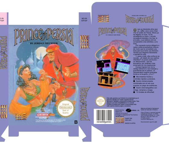 PRINCE OF PERSIA NES CAJA BOX