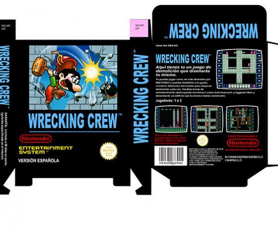 wrecking crew caja pequeña nintendo nes caja box portrait