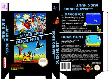 2 EN 1 MARIO BROS DUCK HUNT CAJA BOX RETRO REPRO BOX CUSTOM PAL ESPAÑA