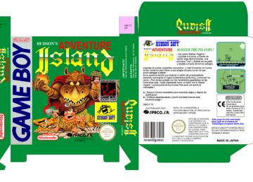 ADVENTURE ISLAND CAJA BOX PAL ESPAÑA OFICIAL RETRO REPRO NINTENDO GAME BOY GB GAMEBOY