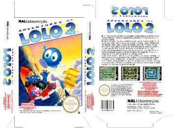 ADVENTURES OF LOLO 2 PAL ESP CAJA RETRO NINTENDO BOX PLANTILLA