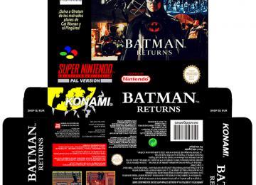 BATMAN RETURNS CAJA BOX RETRO REPRO PORTRAIT SNES SUPER NINTENDO