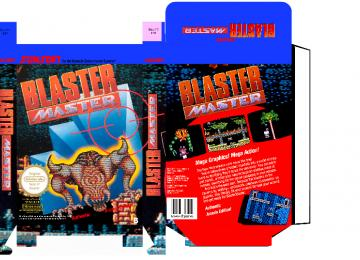 BLASTER MASTER NES CAJA RETRO BOX PLANTILLA PAL ESPAÑA