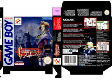 CASTLEVANIA LEGENDS PAL EUR ESP GAME BOY CAJA BOX