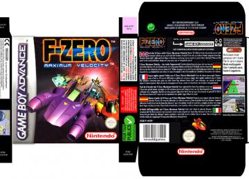 F ZERO MAXIMUM VELOCITY CAJA BOX PORTRAIT RETRO REPRO NINTENDO GAME BOY ADVANCE GBA