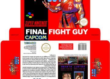 FINAL FIGHT GUY PAL ESPAÑA CUSTOM SNES CAJA BOX PLANTILLA RETAILO BOX