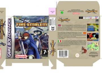 FIRE EMBLEM SWORD OF SEALS CAJA BOX PORTRAIT NINTENDO GAME BOY ADVANCE RETRO REPRO GBA