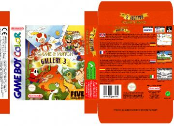 GAME & WATCH GALLERY 3 CAJA BOX PLANTILLA PAL EUR ESP