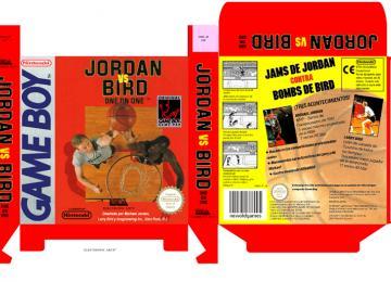 JORDAN VS BIRD CAJA BOX GAME BOY GB GAMEBOY PAL ESPAÑA CAJA BOX PORTRAIT RETRO REPRO