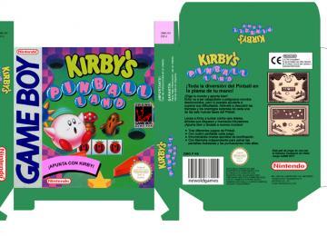 KIRBY'S PINBALL LAND CAJA BOX PORTRAIT RETRO REPRO NINTENDO