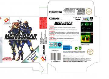 METAL GEAR PAL CAJA BOX GAME BOY