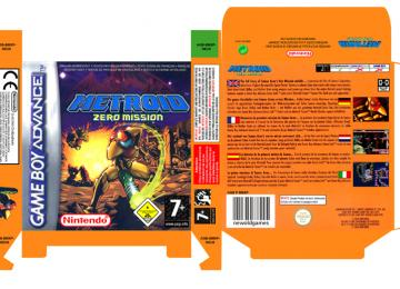 METROID ZERO MISSION PAL EUR ESP CAJA GAME BOY ADVANCE NINTENDO GBA OFICIAL RETRO REPRO BOX INLAY CAJA