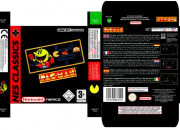 PAC-MAN PACMAN CLASSIC GAME BOY ADVANCE GB ADV NINTENDO CAJA BOX PAL EUR ESP PAL EUROPA ESPAÑA PORTRAIT CAJA RETRO REPRO