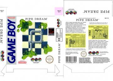 PIPE DREAM GAME BOY GB NINTENDO CAJA BOX PORTRAIT RETRO REPRO