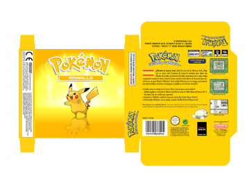 POKEMON AMARILLO CUSTOM PAL ESP GB CAJA BOX PORTRAIT PLANTILLA