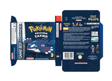 POKEMON ZAFIRO CAJA BOX PORTRAIT RETRO REPRO GAME BOY ADVANCE GBA NINTENDO