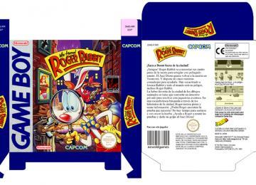 RETRO REPRO ROGER RABBIT PAL ESP VAJA GAME BOY GB BOX PORTRAIT NINTENDO