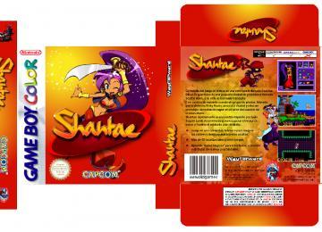 SHANTAE GAME BOY CAJA BOX PLANTILLA RETRO