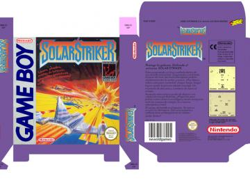 SOLAR STRIKER GAME BOY GB CUSTOM BOX PORTRAIT RETRO REPRO NINTENDO