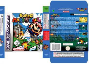 SUPER MARIO BALL GAME BOY ADVANCE CAJA BOX RETRO REPRO BOX PAL EUR ESPAÑA