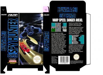 SUPER SPY HUNTER caja box plantilla portrait retro repro nintendo 8 bit consola pal españa
