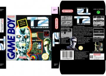 TERMINATOR 2 ARCADE GAME JUEGO NINTENDO GB GAME BOY CAJA RETRO REPRO