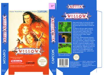 WILLOW NES NINTENDO 8 BIT CAJA BOX RETRO REPRO PORTRAIT BOX OFICIAL
