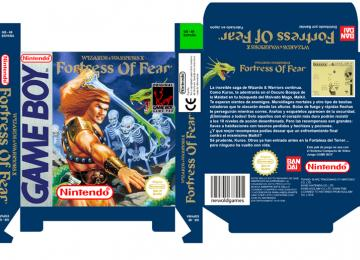 WIZARDS & WARRIORS- FORTRESS OF FEAR PAL ESP CAJA BOX PORTRAIT RETRO REPRO NINTENDO GAME BOY GB GAMEBOY