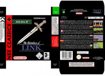 ZELDA II CLASSIC caja box game boy advance gba nintendo repro retro portrait box game españa pal europa