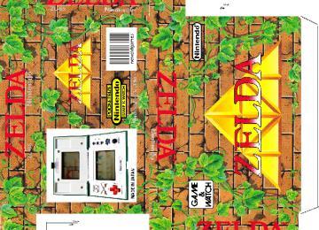 ZELDA ZL-65 game watch caja plantilla retro